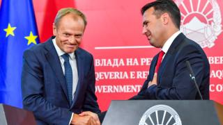 Туск в Скопие: ЕС да започне преговори със Северна Македония за членство