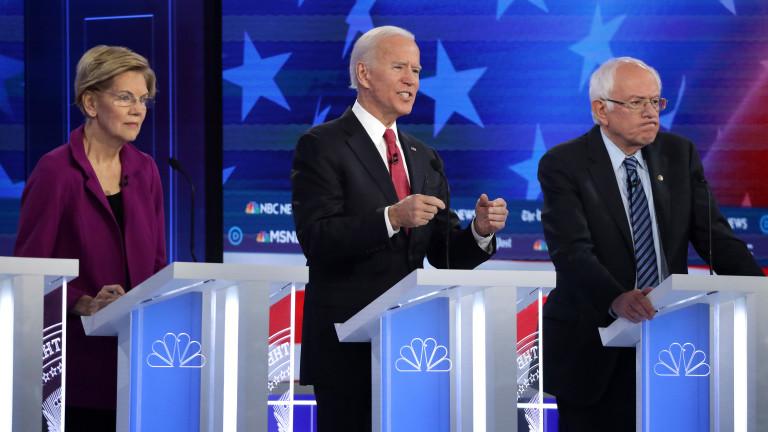 Петият дебат между кандидатите за президент на Демократическата партия се