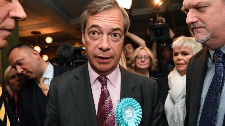 Британският евроскептик Найджъл Фараж твърди, че неговата Партия