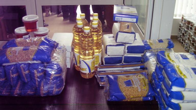 БЧК започна раздаването на хранителни продукти от ЕС за софиянци