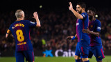 Барселона - Еспаньол 2:0 (Развой на срещата по минути)