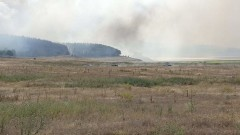 Пожар лумна край хипермаркет във Варна
