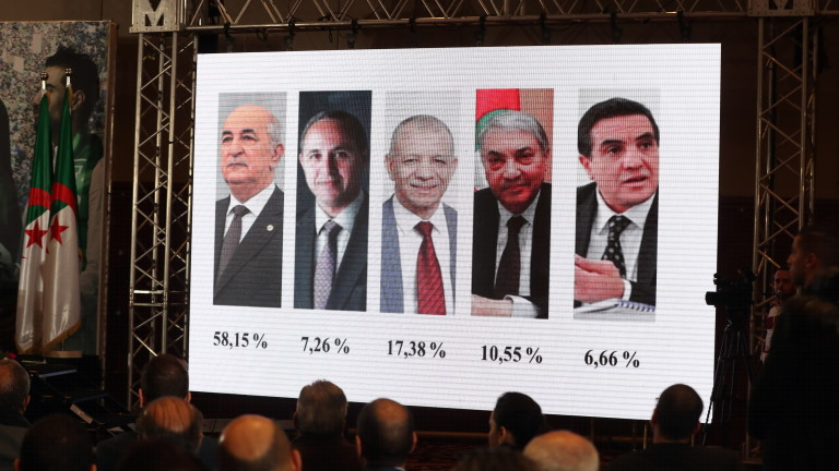 Бившият премиер на Алжир Абделмаджид Табун печели президентските избори на