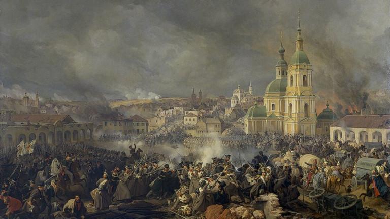 Останките на френски и руски войници, загинали по време на