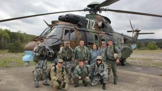 Екипи на ВМА тренираха авиомедицинска евакуация
