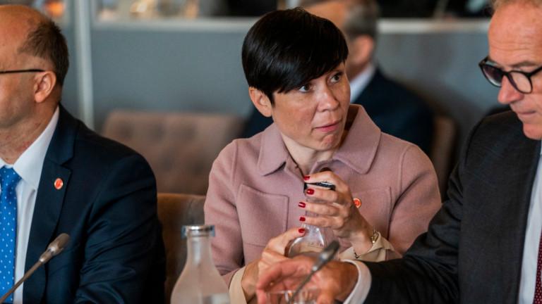 Норвежкият външен министър Ине Ериксен Сореиде заяви, че страната ще
