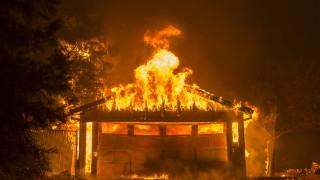 Пожарите в Калифорния са най-скъпото застрахователно събитие за 2018-а