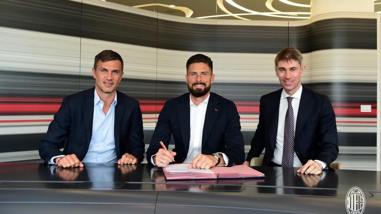 Официално: Оливие Жиру вече е футболист на Милан