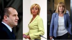Румен Радев, Мая Манолова и Йорданка Фандъкова с най-високо доверие в края на 2017 г.