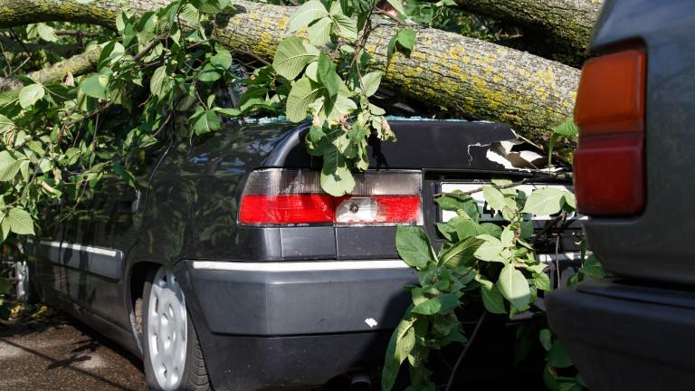 Силна буря връхлетя Кърджали и нанесе щети на коли и