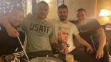"""Валери Божинов отпразнува Коледа в """"червена"""" компания"""