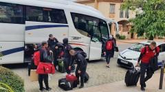 ЦСКА пристигна в Марбея и направи първа тренировка