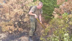 Военни участват в окончателното гасене на пожара край Черничево