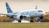 Новият руски пътнически самолет МС-21 прави премиера в Истанбул