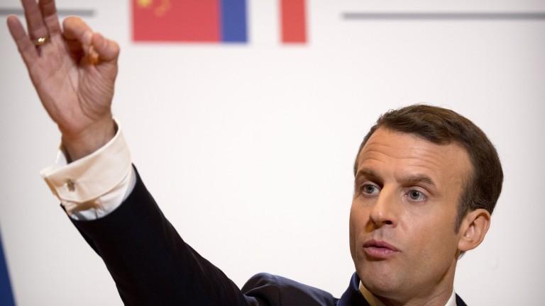 Френският президент Еманюел Макрон заяви, че договорът с Китай за