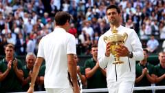 """Тенис от друга планета! Ноле отново спечели """"Уимбълдън"""" след гладиаторска битка с феномена Федерер"""
