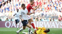 Дания - Франция 0:0 (Развой на срещата по минути)