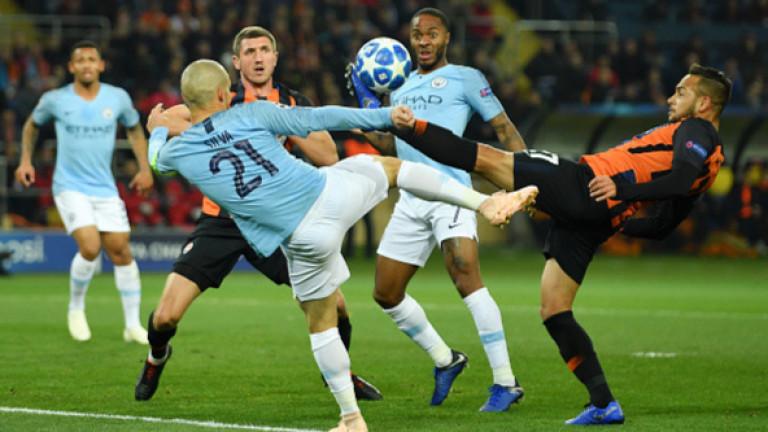 Шахтьор - Ман Сити 0:3, Бернардо Силва вкарва трети гол за гостите