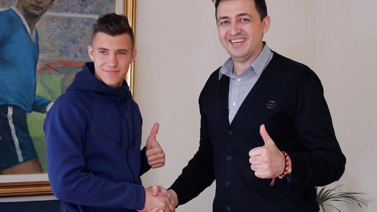 Левски поздрави таланта Ивайло Найденов