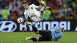 Суарес се контузи по време на днешната тренировка на Уругвай