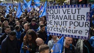 20 000 полицаи на протест за по-добри условия на работа във Франция