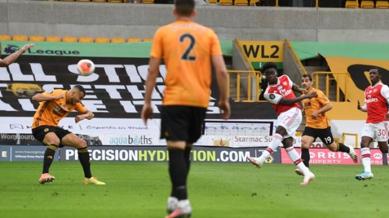 Уулвърхемптън загуби от Арсенал в мач от 33-тия кръг на