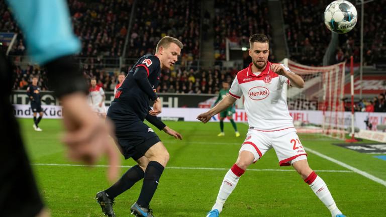 РБ Лайпциг излезе начело в Бундеслигата след победа срещу Фортуна