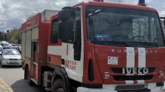 Бус с шестима души се запали край Пазарджик