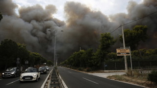Нов пожар в Гърция по пътя Атина - Сунио