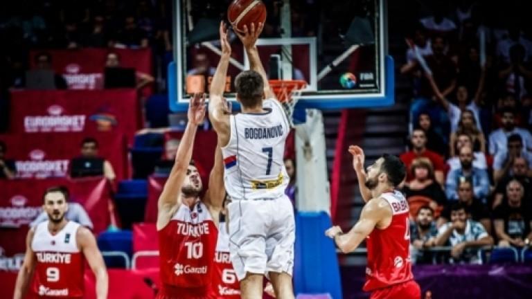 Сърбия победи един от домакините на Евробаскет 2017 Турция с