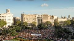 Хиляди каталунци отбелязаха с протест годишнината от референдума за независимост