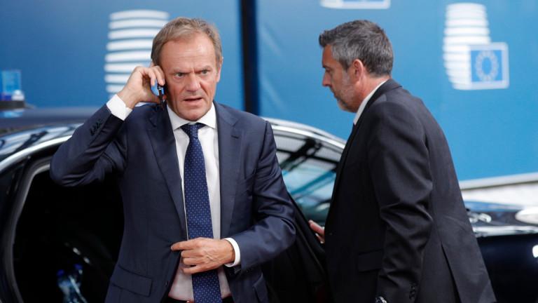 Председателят на Европейския съвет Доналд Туск ще поиска от евролидерите