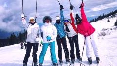 """""""Златните момичета"""" се качиха на ски (СНИМКИ)"""