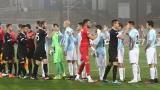Това са отборите от първата шестица и втората осмица на Първа лига