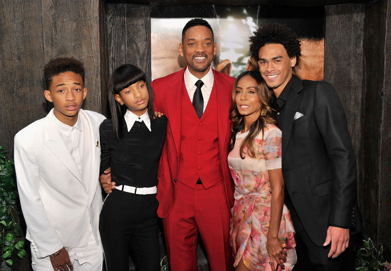 Уил Смит и Джейда Пинкет с трите си деца