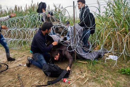 Задържаните в Унгария бежанци тръгнаха пеша към австрийската  граница
