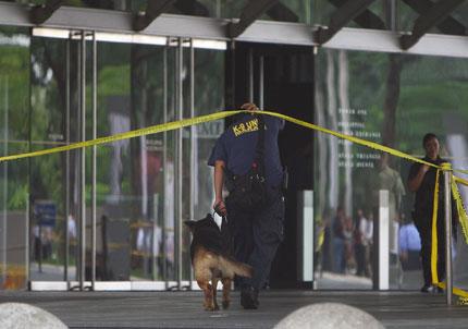Сигнал за бомба изпразни фондова борса във Филипините
