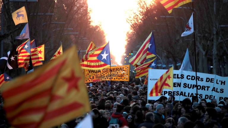 Масов протест на сепаратистите в Каталуния, стигна се до сблъсъци