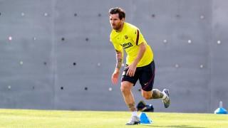 Лео Меси тренира отделно от своите съотборници