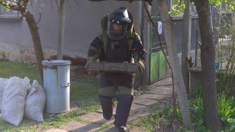 Снимка: Изровиха пълен с експлозиви бидон в Кърджалийско
