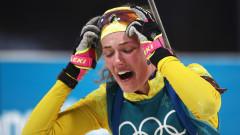 Шведката Хана Йоберг с изненадващо злато в биатлона