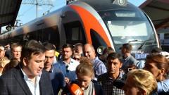 Украинските власти блокираха влак с Михаил Саакашвили