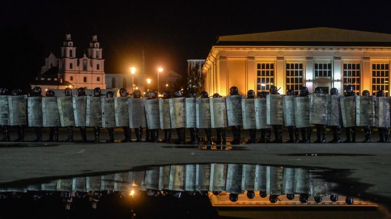 В центъра на Минск силите на вътрешните войски на Беларус