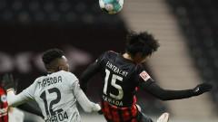 Айнтрахт (Франкфурт) победи Байер (Леверкузен) с 2:1 в Бундеслигата