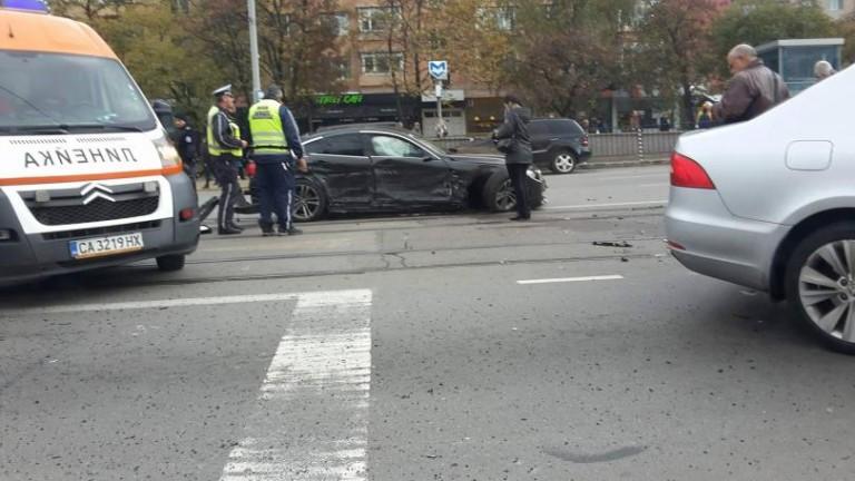 Верижна катастрофа в центъра на София
