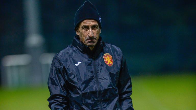 Йордан Лечков се включи в днешната тренировка на националния отбор.