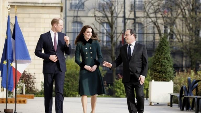 Принц Уилям посети Париж за първи път