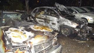 Благоевград осъмна с три опожарени автомобила