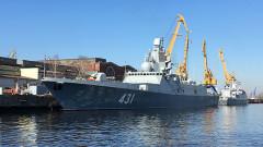 """Русия пусна видео от изпитанията на новата фрегата """"Адмирал Касатонов"""""""