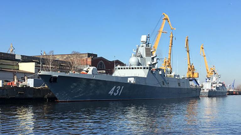 Руското военно министерство публикува видео от изпитанията на новата фрегата